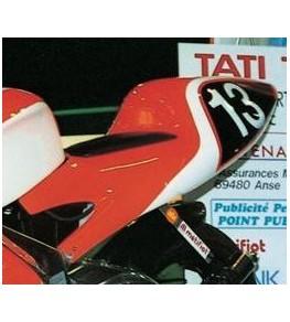 Selle monoplace en assise fermée Aprilia 125 RS 1996-1998 peinte et montée