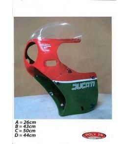 Carénage en 2 parties Ducati Mike Hailwood Réplica dimensions