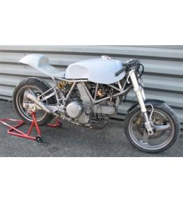 Réservoir polyester Ducati 900 SS Café Racer montage à blanc