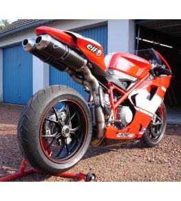 Coque arrière monoplace Ducati 848 1098 et 1198 peinte vue arrière