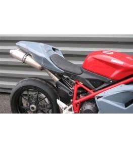 Coque arrière monoplace Ducati 848 1098 et 1198 montage à blanc