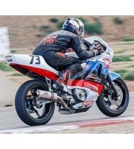 Carénage en 3 parties fermé Honda 600 CBR 1988 1990 sur piste 2
