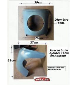 Saute vent Néo-Rétro dimensions et côtes
