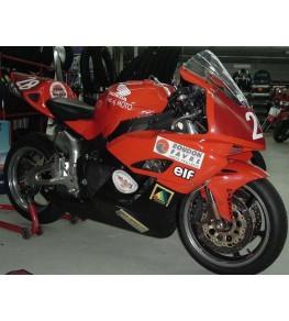 Carénage en 2 parties CBR 1000 RR 04-05 monté et peint rouge