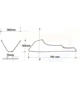 Sabot moteur long VTR 1000 dimensions et côtes