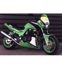 Tête de fourche ZR7 pour phare rond origine vue sur moto complète