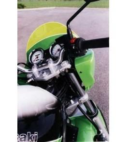 Tête de fourche ZR7 pour phare rond origine vue fixation arrière