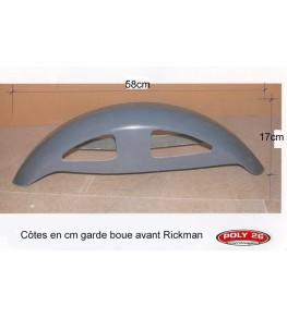 Garde boue avant Rickman Réplica côtes et dimensions profil