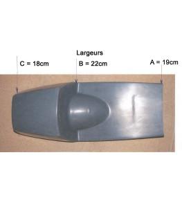 Selle / coque arrière Rickman Réplica côtes et dimensions largeurs