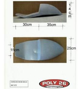 Selle / coque arrière Manx Evo 2 côtes et dimensions