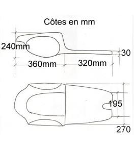 Selle / coque arrière Commando Racer côtes et dimensions