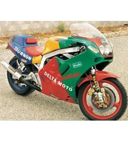 Carénage Endurance 450 en 2 parties 750 GSXR 1986-87 / 1100 86-88 vue sur moto complète