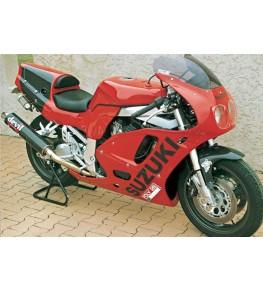 Carénage double optiques en 2 parties 750 GSXR 1992-93 vue sur moto complète