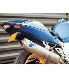 Coque arrière biplace GSXR SRAD 1996-00 montage avec feux perso