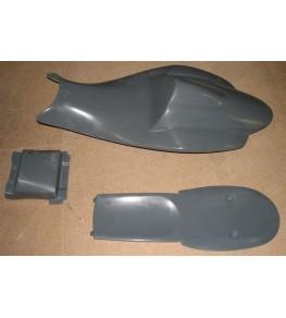 Coque arrière monoplace assise fermée GSXR 600 / 750 06-07