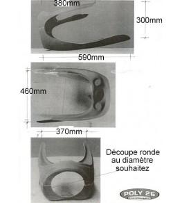 Tête de fourche seule Velocette 500 Thruxton côtes et dimensions