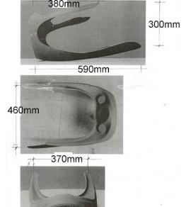 Tête de fourche fermée Velocette 500 Thruxton dimensions