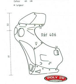 Carénage Sport 406 en 4 parties dimensions