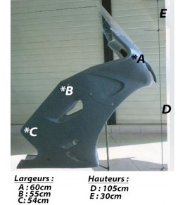 Carénage type GT en 3 parties dimensions