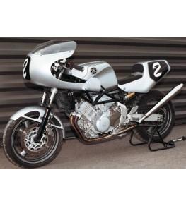 Tête de fourche Rétro TRX montage sur Yamaha TRX 850