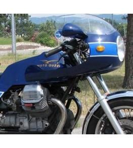Tête de fourche Rétro TRX montage sur Moto Guzzi