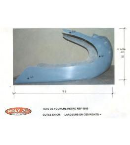 Tête de fourche Rétro SVS 650 99-02 sans découpe de phare