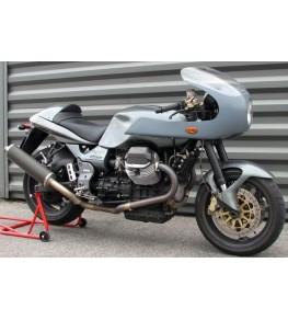 Tête de fourche Rétro SVS montage sur Moto Guzzi V11