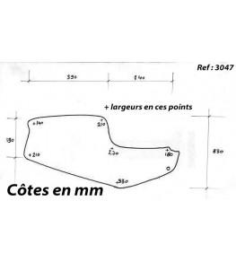Selle / coque arrière mono TRX dimensions