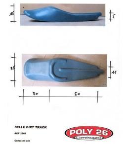 Selle/Coque arrière mono Dirt Track dimensions
