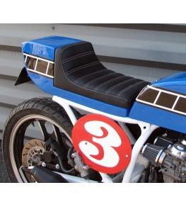 Selle/Coque arrière mono Style TZ montée avec peinture et sellerie