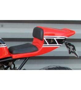 Selle/Coque arrière mono OW31 montée peinte avec sellerie vue avant gauche