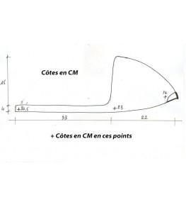 Selle/Coque arrière mono 309 dimensions
