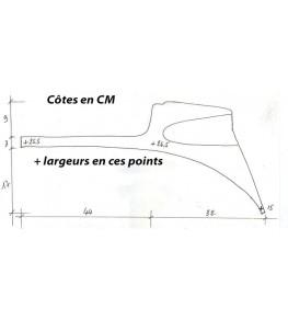 Selle/Coque arrière mono Dresda Réplica dimensions