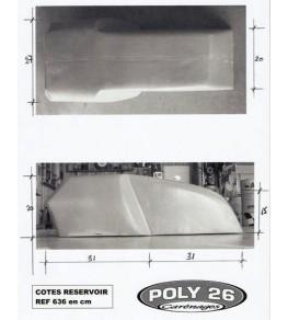 Réservoir d'essence polyester Style TZ dimensions 1