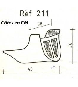 Sabot moteur modèle 211 dimensions