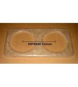Platine pour optiques 135mm Entraxe 152mm