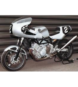 Tête de fourche Rétro TRX 850 95-99 vue montage rétro sur moto complète