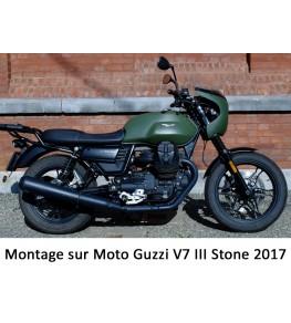 Saute vent Néo Rétro 5590 montage sur Moto Guzzi V7 III de 2017 vue profil