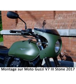 Saute vent Néo Rétro 5590 montage sur Moto Guzzi V7 III de 2017