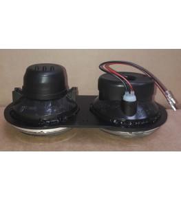 Kit double optiques en diamètre 90mm vue profil à plat