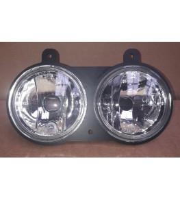 Kit double optiques en diamètre 90mm vue de face homologué E9
