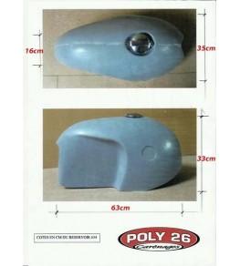 Cache réservoir polyester type BMW R50 R69 côtes et dimensions