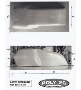 Cache réservoir polyester Style TZ côtes et dimensions