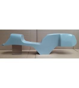 Monocoque cache réservoir + selle polyester type Café Racer 02 vue droite