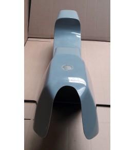 Monocoque cache réservoir + selle polyester type Café Racer 01 vue avant de haut