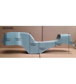 Monocoque cache réservoir + selle polyester type Café Racer 01 hauteurs