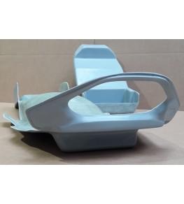 Passage de roue Bandit 1200 95-99 petits clignos brut vue arrière