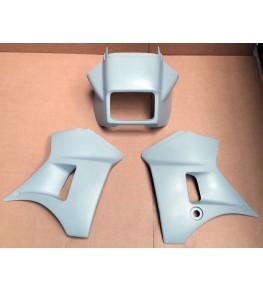Tête de fourche en 3 parties 250 TDR vue de face