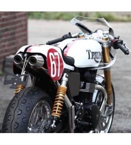 Selle / coque arrière Commando Racer montage sur Triumph