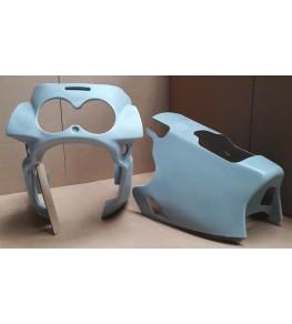 Carénage en 2 parties FZR 1000 type OW01 prises d'air inférieures 1989-1990 brut vue de face